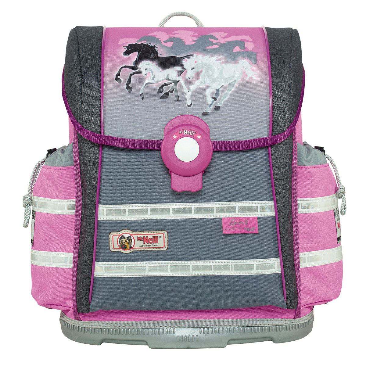 McNeill-Schulranzen-ERGO-Light-912-S-9624171000-grau-rosa-pferde