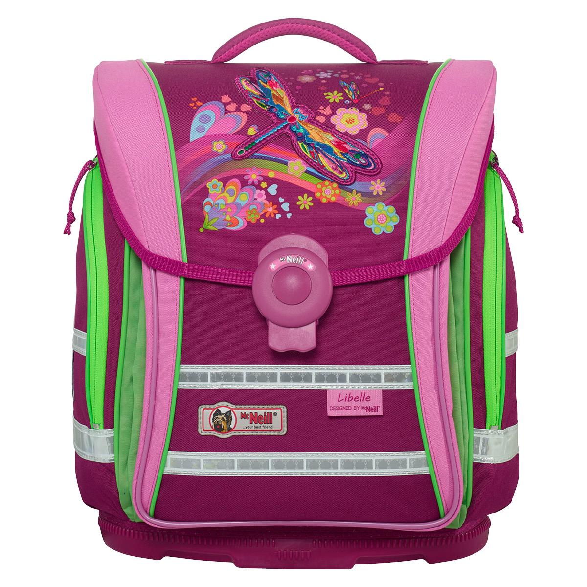 McNeill-Schulranzen-ERGO-Light-COMPACT-flex-9604185000-pink-rosa-libellen