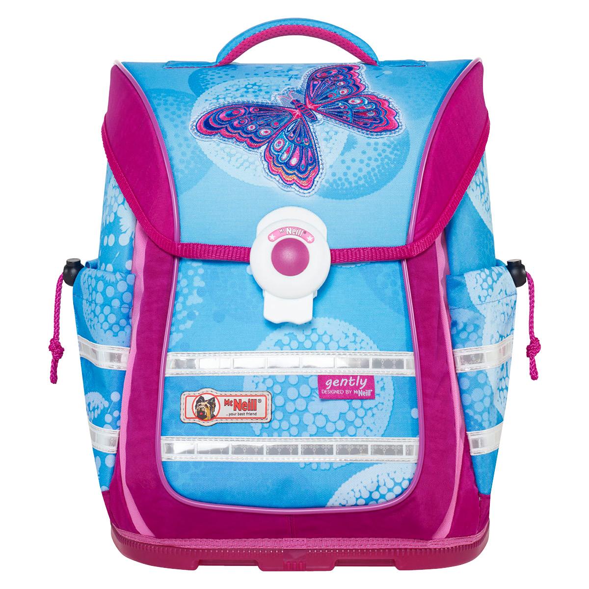 McNeill-Schulranzen-ERGO-Light-PURE-9630173000-pink-blau-schmetterlinge